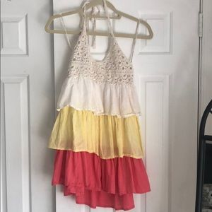 Forever 21 Layered Crochet Halter Dress Size S/P